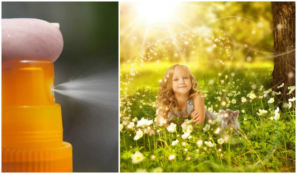 Sun protection hair sprays are easy to use.