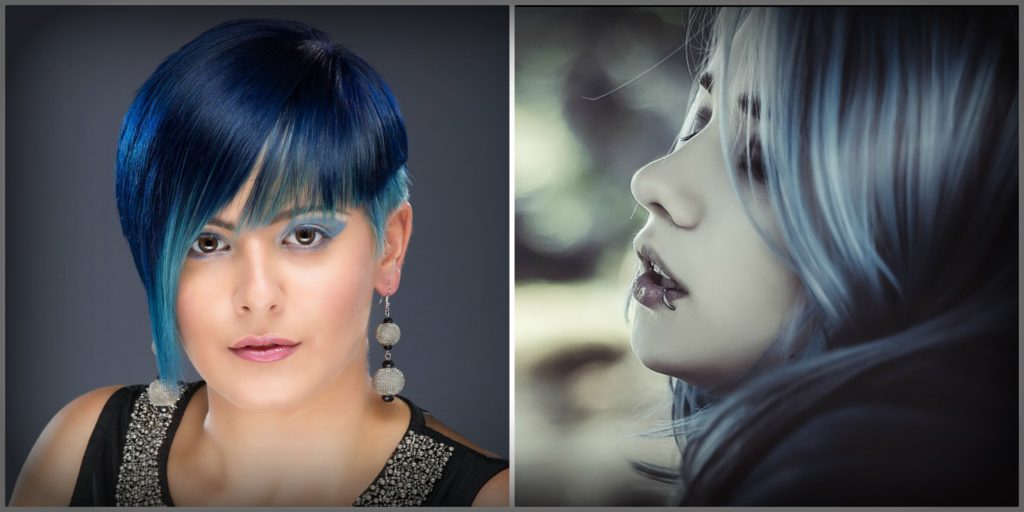 Try denim hair colours this autumn.