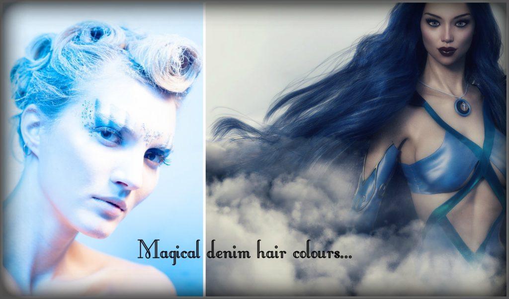 Denim hair colour is magical.