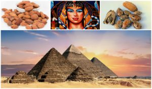 Egyptian piramids, pharao, almonds