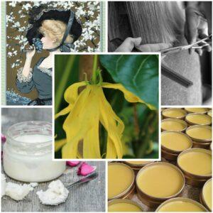 Woman, hair cut, ylang-ylang, fixing waxes and oils