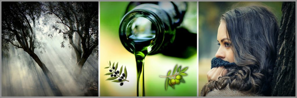 Olive oil for natural hair care.