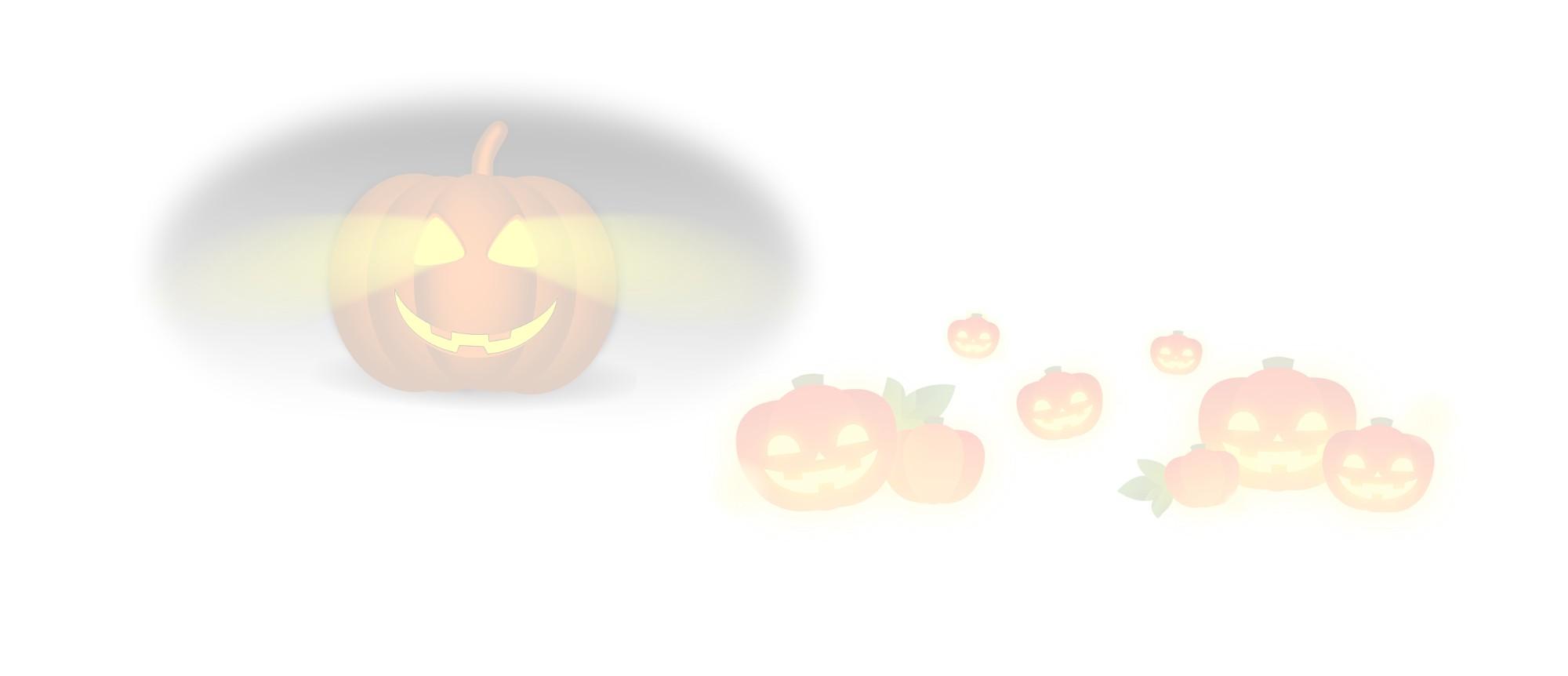 Smiling halloween pumpkins.
