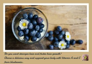 Healthy hair with blueberries. Your Beauty Hair