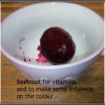 Lemon, beetroot, camomille tea