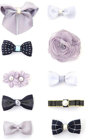 Hair bows in different designs.