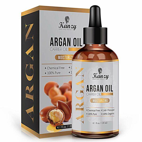 A bottle of Kanzy Argan oil